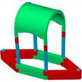 Детская пластиковая песочница ЭКП Лодочка П6К