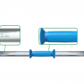 Гриф для гантели с пластиковой ручкой длина 50 см, диаметр 30 мм, вес 2 кг