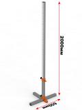Стойки для прыжков в высоту телескопические алюминиевые 40-210 см в комплекте с планкой фиберглас 3 м