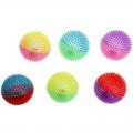 Мячи световые, музыкальные, массажные 10 см (комплект 6 шт.)
