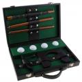 Игра Портативный гольф SL в кожаном кейсе (в комплекте: кейс, клюшка, лунка, 4 мячика)