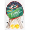 Набор для настольного тенниса ONLITOP (2 ракетки, 3 мяча, сетка)