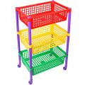 Контейнер для игрушек Светофор на колёсиках 43,5 х 30,5 х 69,2 см
