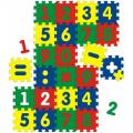 Мягкий развивающий коврик с цифрами СЛ из 24 элементов