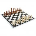 Шахматные фигуры деревянные с доской из пленки СЛ