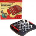 Игра настольная СЛ 2в1: шахматы и шашки, магнитные