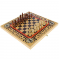 Шахматы, шашки, нарды большие 3в1 СЛ Статус (50 x 50 x 2,7 см)