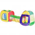 Игровая палатка СЛ Цвета радуги с туннелем