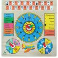 Рамка-вкладыш Календарь с часами СЛ IG0058