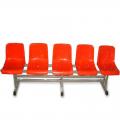 Скамейка зрительская на 5 мест с пластиковыми сиденьями