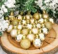 Набор шаров SL пластик d-3 см 25 шт Алия золото