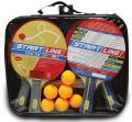 Набор для настольного тенниса START LINE (4 Ракетки, 6 Мячей, Сетка с креплением, Сумка)