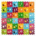 Коврик-пазл SL Маша и Медведь с вырезными буквами 90 x 90 см