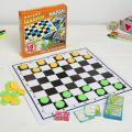 Настольная игра SL 3 в 1: шашки, нарды, крокодильчик