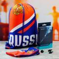 Набор для плавания Russia арт. 4478118  (комплект: шапочка для плавания Russia, сумка-мешок Russia, беруши 2 шт., зажим для носа)