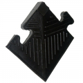 Уголок резиновый для бордюра, чёрный, 20 мм