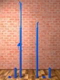 Стойки волейбольные телескопические АТЛАНТ ГС-АТ круглые,  диам. 76 - 57 мм, с механизмом натяжения